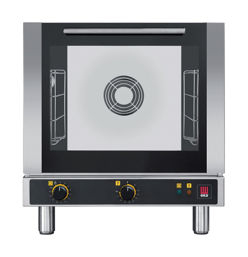 EKA EKFA 412 Electric Half Size Countertop Convection Oven - Manual Controls - 4 Trays - 208-240V Single Phase