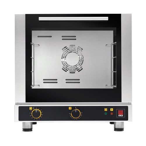 EKA EKFA 412 S2 Electric Half Size Countertop Convection Oven w/ Manual Controls - 3 Trays - 208/240V