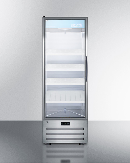 "Accucold ACR1415LH 24"" Pharmaceutical Glass Door Refrigerator - 14 Cu. Ft. - Left Hinge"