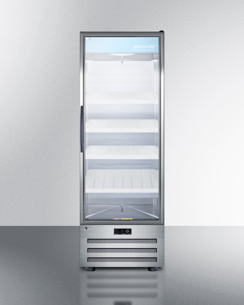 "Accucold ACR1415RH 24"" Pharmaceutical Glass Door Refrigerator - 14 Cu. Ft. - Right Hinge"
