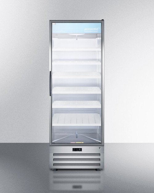"Accucold ACR1718RH 27"" Pharmaceutical Glass Door Refrigerator - 17 Cu. Ft. - Right Hinge"