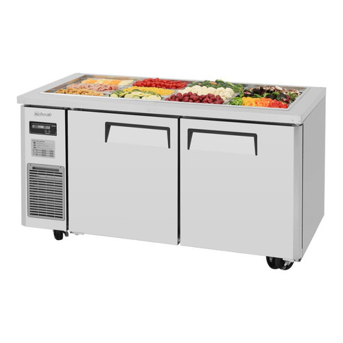 Turbo Air JBT-60-N J Series Buffet Display Table, Side Mount, 2 Solid Doors