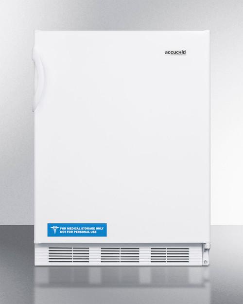 """Accucold FF7BI 24"""" Built-In Undercounter Refrigerator - 5.5 Cu. Ft. - White"""
