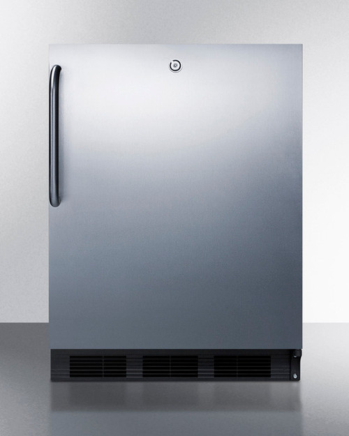 "Accucold FF7LBLCSSADA 24"" Built-In Undercounter Refrigerator - 5.5 Cu. Ft. - Stainless Steel - ADA Height"