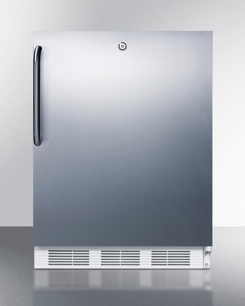"Accucold FF7LCSSADA 24"" Built-In Undercounter Refrigerator - 5.5 Cu. Ft. - Stainless Steel - ADA Height"