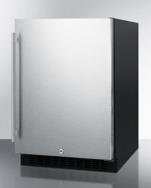 "Summit AL54 24"" Built-In Undercounter Refrigerator, 4.8 Cu. Ft., Stainless Steel"