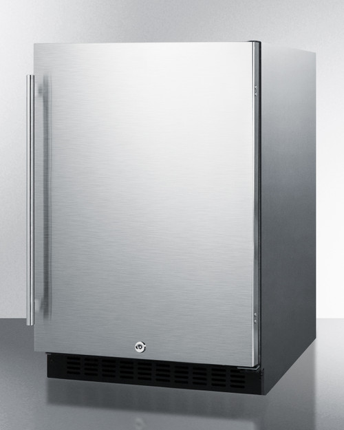 """Summit AL54CSS 24"""" Built-In Undercounter Refrigerator, 4.8 Cu. Ft., Stainless Steel"""