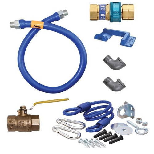 "Dormont 16100KIT60PS SnapFast 60"" Gas Connector Kit with Safety-Set - 1"" Diameter"