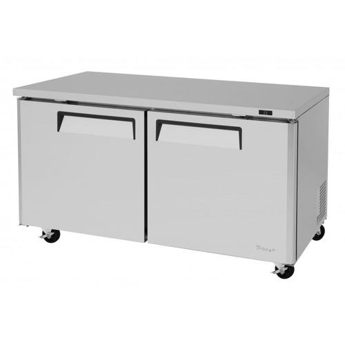 Turbo Air MUR-60-N M3 Series Undercounter Refrigerator - 2 Solid Doors