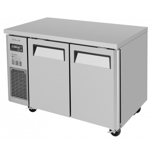 Turbo Air JUF-48-N J Series Undercounter Freezer, Side Mount, 2 Solid Doors
