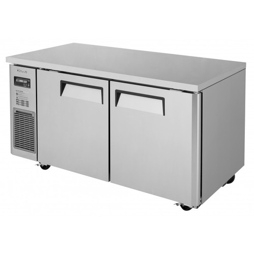Turbo Air JUF-60-N J Series Undercounter Freezer, Side Mount, 2 Solid Doors