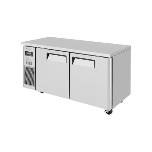 Turbo Air JUR-60S-N6 J Series 2 Solid Doors Undercounter Refrigerator, Side Mount - Narrow