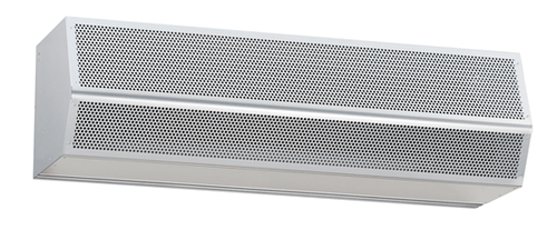 "Mars NH296-2UH-TS ETL Sanitation Certified Back Door Air Curtain, 96"" Wide - Titanium Silver - 460V 3 Phase"