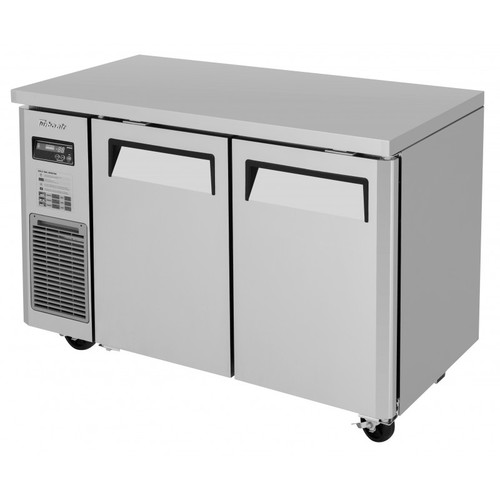 Turbo Air JUF-48S-N J Series Undercounter Freezer, Side Mount, Narrow Depth, 2 Solid Doors