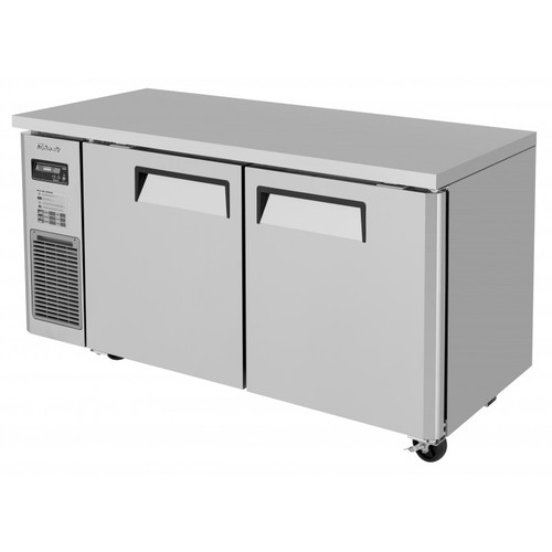 Turbo Air JUF-60S-N J Series Undercounter Freezer, Side Mount, Narrow Depth, 2 Solid Doors