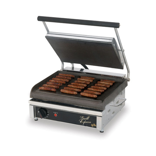 Star GX14IS Grill Express Smooth Iron Sandwich Grill - 120V