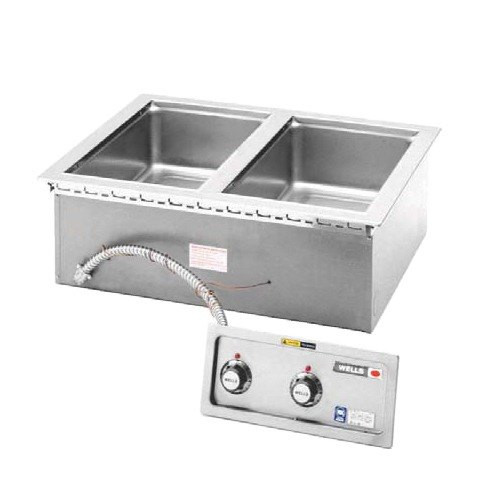 Wells MOD200TDM Two Pan Drop-in Hot Food Well with Drain Manifold - Thermostatic Control - 208/240V
