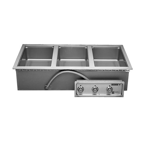 Wells MOD300TDM Three Pan Drop-in Hot Food Well with Drain Manifold - Thermostatic Control - 208/240V