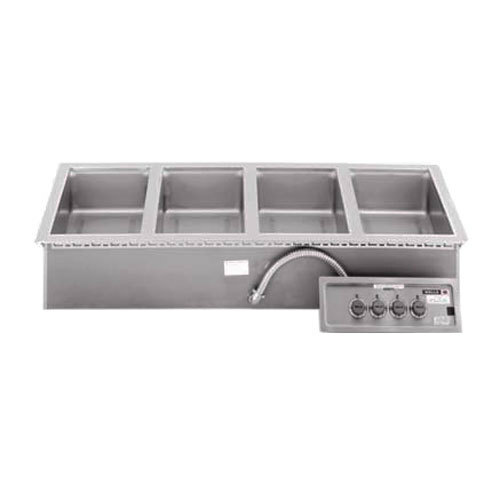 Wells MOD400TDM Four Pan Drop-in Hot Food Well with Drain Manifold - Thermostatic Control - 208/240V