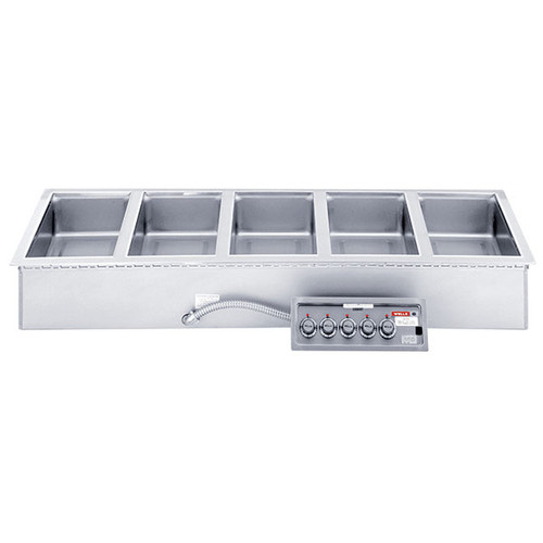Wells MOD500TDM Five Pan Drop-in Hot Food Well with Drain Manifold - Thermostatic Control - 208/240V
