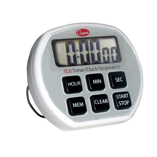 Cooper-Atkins TC6 Six Button Electronic Timer/Clock/Stopwatch