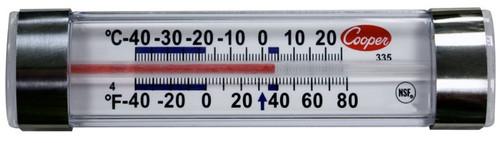 Cooper-Atkins 335-01-1 Horizontal Glass Tube Refrigerator Thermometer
