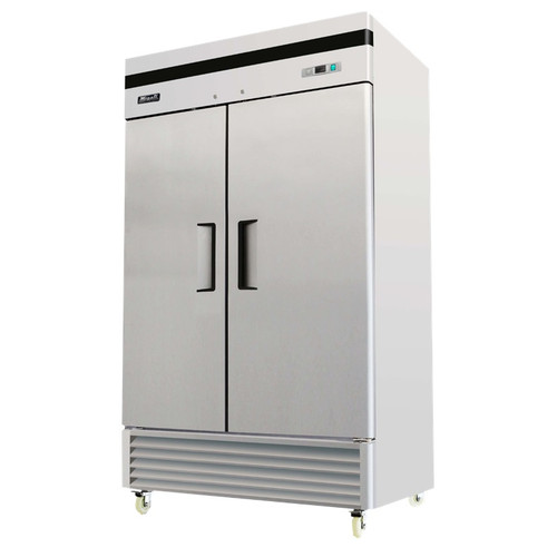 "Migali C-2FB-35-HC 39.5"" Space Saving Two Door Reach-in Freezer - 35 Cu. Ft."