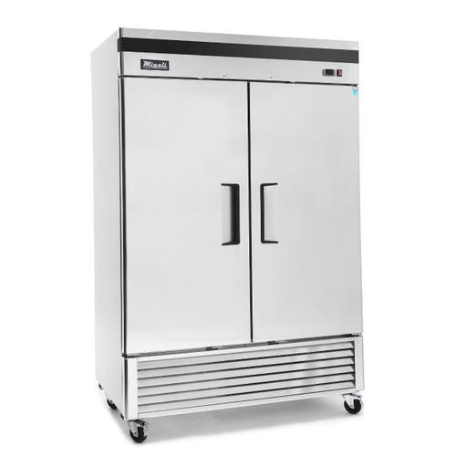 """Migali C-2FB-HC 54.4"""" Bottom Mount Reach-In Freezer, 2 Section, Solid Door"""