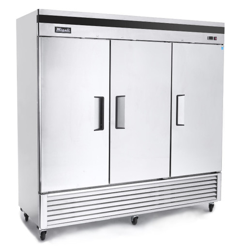 "Migali C-3FB 81.9"" Bottom Mount Reach-In Freezer - 3 Doors"