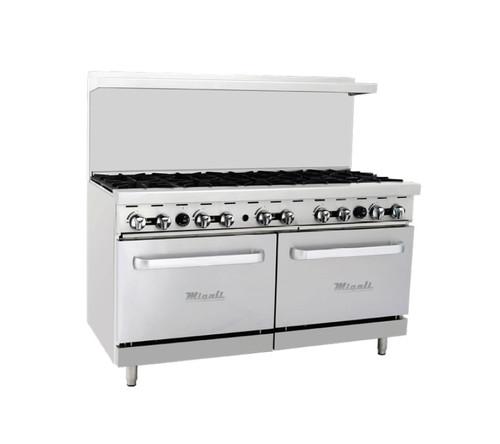 "Migali C-RO10 60"" Gas Range w/ Ovens - 10 Burners"