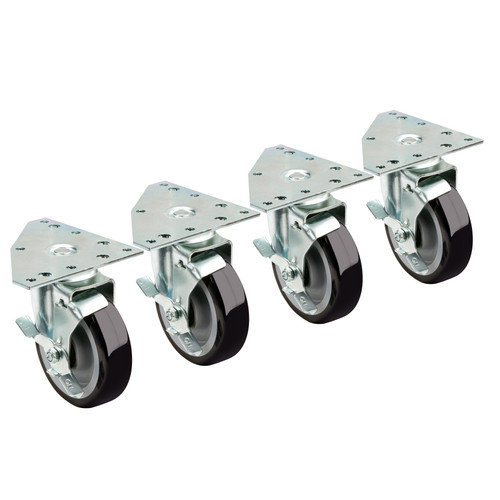 Krowne 28-166S Caster Set w/ Triangle Plate