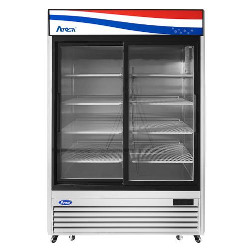 Atosa MCF8709GR Bottom Mount Refrigerator, (2) Two Sliding Door (MCF8709GR)