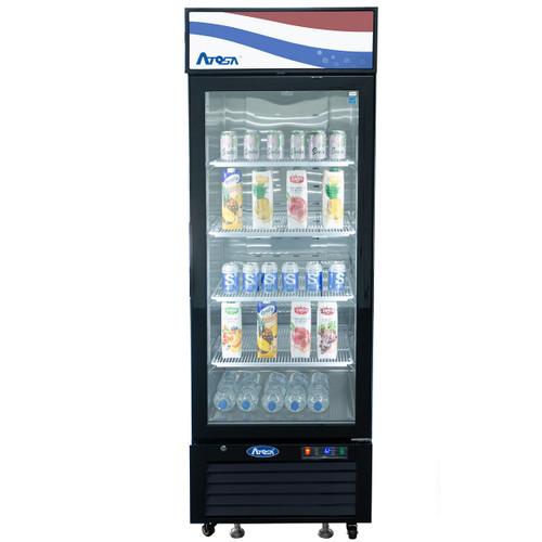 Atosa MCF8725GR Black Exterior Glass Door Refrigerator Merchandiser