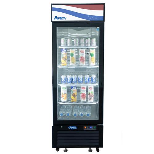 Atosa MCF8722GR Swing Glass Door Merchandiser Refrigerator, (1) Door, Black Exterior [Front]