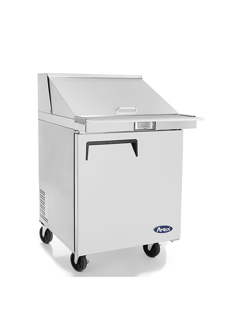 "Atosa MSF8305GR 27"" Mega Top Sandwich Prep Table, 12 Pans"