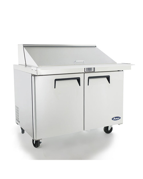"Atosa MSF8306GR 48"" Mega Top Sandwich Prep Table, 18 Pans"