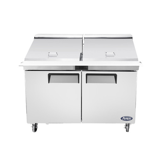 "Atosa MSF8307GR 60"" Mega Top Sandwich Prep Table, 24 Pans"