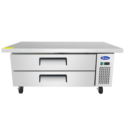 "Atosa MGF8452GR 60"" Two Drawer Refrigerated Chef Base, Extended Top (MGF8452GR)"