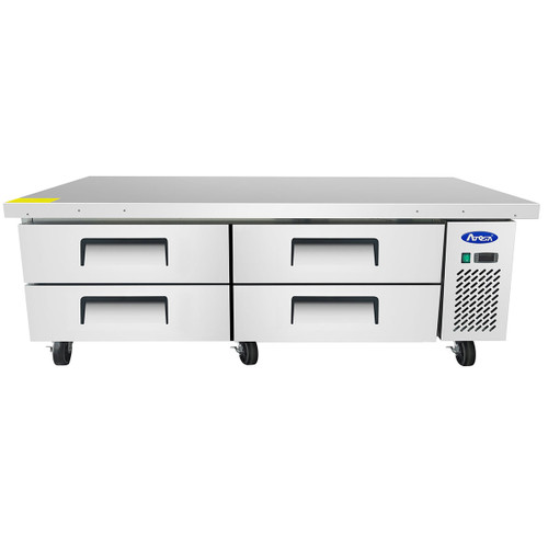 "Atosa MGF8453GR 72"" Four Drawer Refrigerated Chef Base (MGF8453GR)"