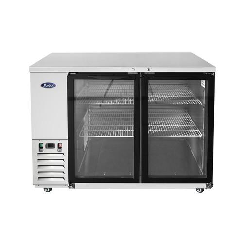 "Atosa MBB48G-GR 48"" Stainless Steel Glass Door Back Bar Refrigerator (MBB48G)"