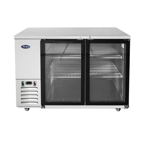 "Atosa MBB59G-GR 58"" Stainless Steel Glass Door Back Bar Refrigerator (MBB59G)"