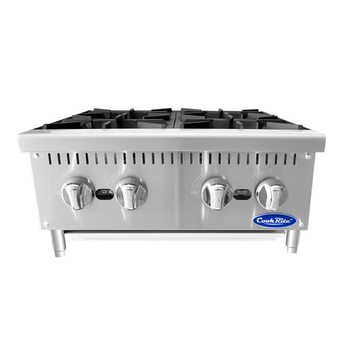 "Atosa ATHP-24-4 24"" Heavy Duty Countertop Range / Hot Plate with 4 Burners - 100,000 BTU (ATHP-24-4)"