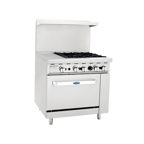 "Atosa ATO-12G4B 36"" Gas Range with 12"" Griddle"