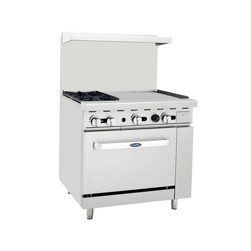 "Atosa ATO-2B24G 36"" Gas Range with 24"" Griddle"