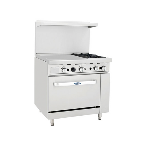 "Atosa ATO-24G2B 36"" Gas Range with 24"" Griddle"