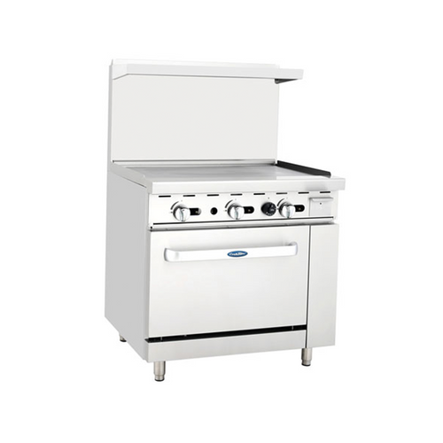 Atosa ATO-36G Gas Range with Griddle Tops