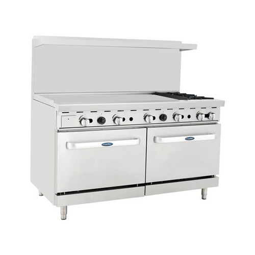 "Atosa ATO-48G2B 60"" Gas Range with 48"" Griddle"