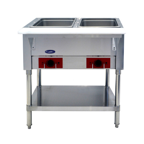 Atosa CSTEA-2 Electric Steam Table, 2 Pan, Open Well