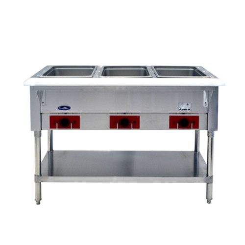 Atosa CSTEA-3 Electric Steam Table, 3 Pan, Open Well