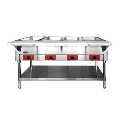Atosa CSTEA-4 Electric Steam Table, 4 Pan, Open Well